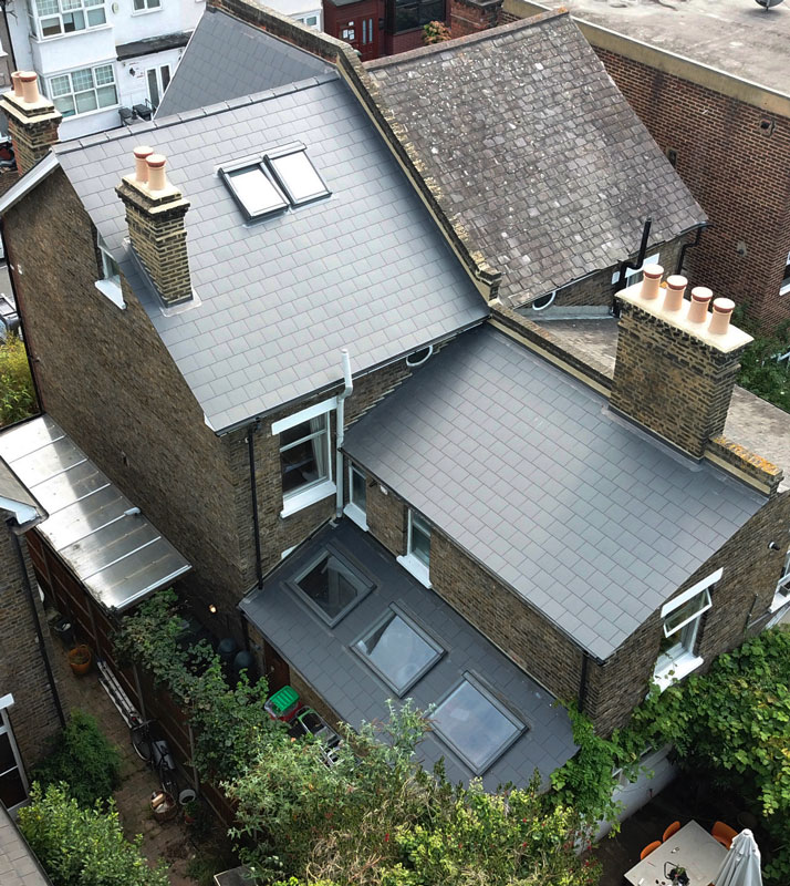 London Slate Tiled Roof