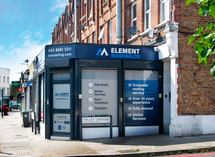 Element Roofing Showroom Lewisham